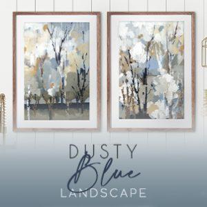 June 2021 - Dusty Blue Landscape